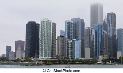 Timelapse Chicago Skyline tight view - A Timelapse Chicago...