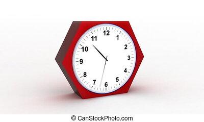timelapse clock on white 3d