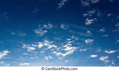 Timelapse clouds on a blue sky