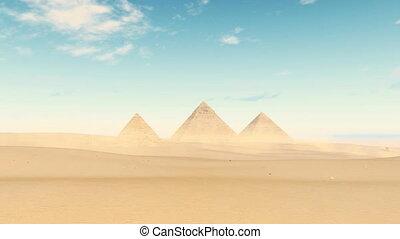 Timelapse clouds over Giza Pyramids, Egypt 4K - Giza Great...