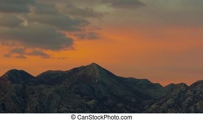 Timelapse - Clouds Swim Over Beautiful Mountains - Timelapse...