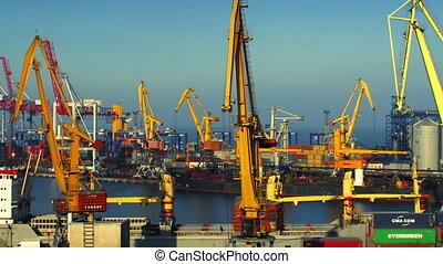 timelapse, commerce, port, activité