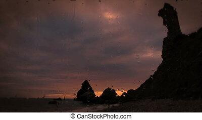 timelapse, coucher soleil