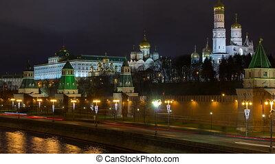 timelapse, de, vista, em, kremlin