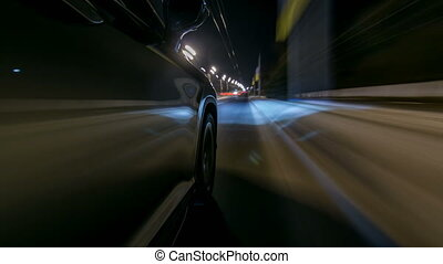 timelapse Driving at high speed through the streets timelapse drivelapse