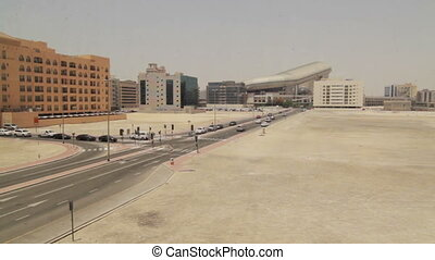 Timelapse Dubai trafic near Mall