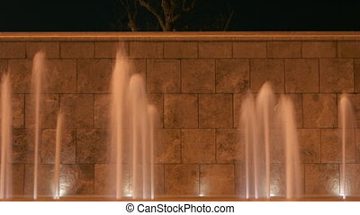 timelapse, fontaine, rome, nuit