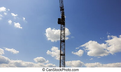 Timelapse footage of a construction crane - Timelapse...