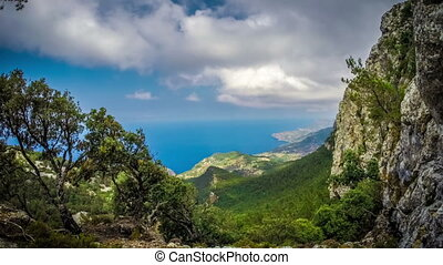 Timelapse footage of the northern part of Mallorca island, ...