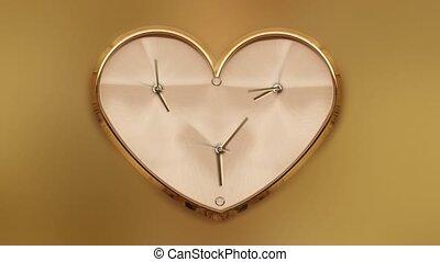 timelapse, forme, horloge, coeur