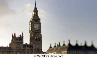 timelapse, groß, straßen, verkehr, london, ben