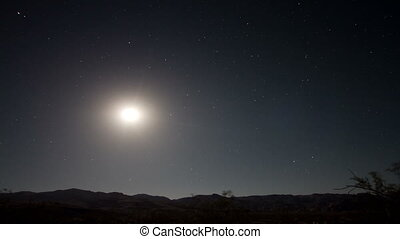 timelapse, gwiazdy, noc
