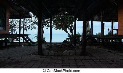 Timelapse inside a beach resort - A wide timelapse shot...