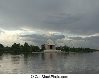 Timelapse Jefferson Memorial DC