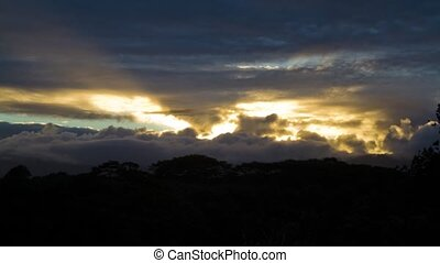 Timelapse,  Kauai, Sonnenuntergang,  Hawaii