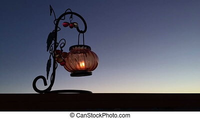 Timelapse Lantern with a candle
