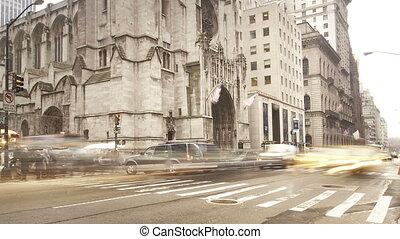 Timelapse Manhattan Downtown Rain