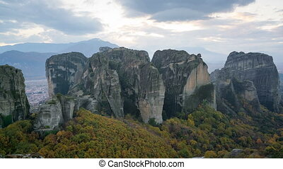 Meteora monasteries in Greece - timelapse Meteora...