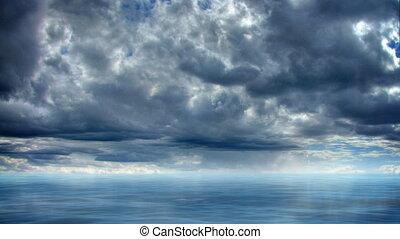timelapse, morze, raj