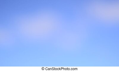 Timelapse. Nature background. Blurred bokeh abstract blue sky