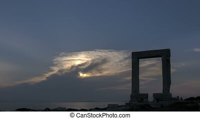 timelapse , naxos , πύλη