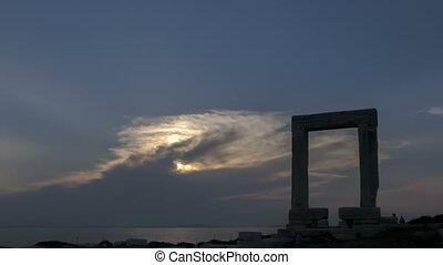 timelapse, naxos, portão
