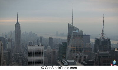 New York Skyline - Timelapse New York Skyline during...