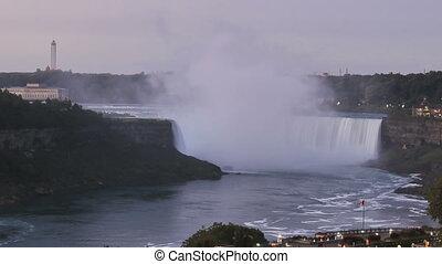 Timelapse Niagara Falls sunrise