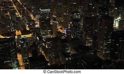 Timelapse Night in Chicago's city center