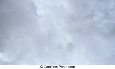 timelapse, nuages gris, ciel