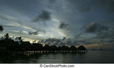 Timelapse of a Bora Bora sunset