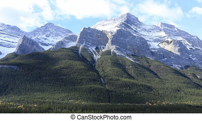 Timelapse of a Mountain view in Banff National Park, Canada...
