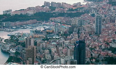 Timelapse Of Aerial View Of Monaco Cityscape