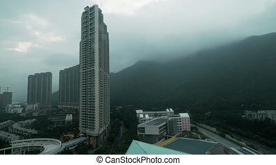 Timelapse of bad weather in Hong Kong - Timelapse shot of...