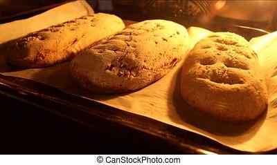timelapse of baking the bread