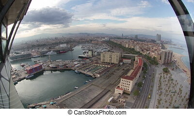 Timelapse of barcelona from high vantage point - fish eye ...