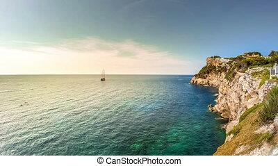 Timelapse of beautiful landscape of Mallorca island, Spain....