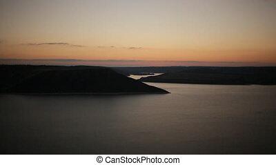 Timelapse of beautiful sunrise in the greek harbor
