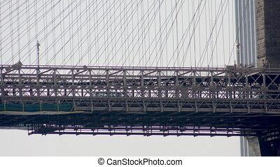 timelapse of brooklyn bridge, new york