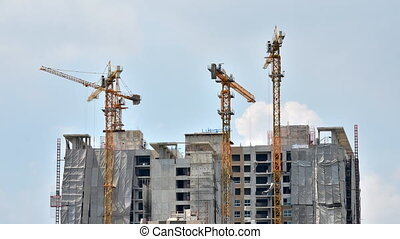 Timelapse of Building Under Construction in Bangkok