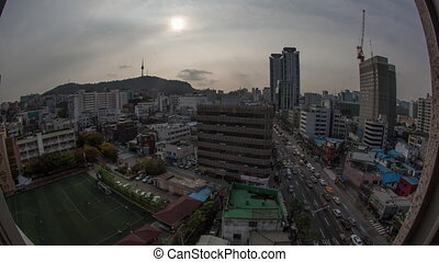 Timelapse of city life in Seoul, South Korea