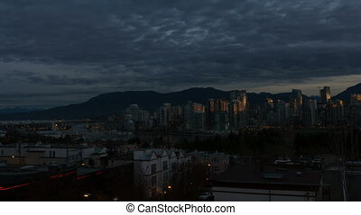 Timelapse of Clouds in Vancouver BC