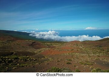 timelapse of clouds over mountains at Teide vulcano area...