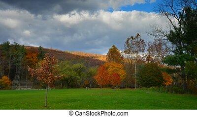 Timelapse of fall landscape
