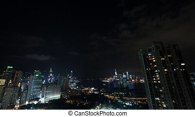 Timelapse of Hong Kong in night time