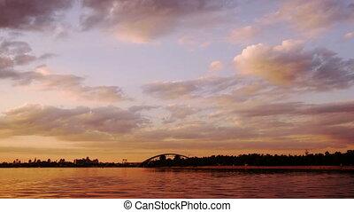 Timelapse of Kiev sunset - High quality 4k timelapse of...