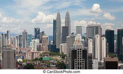 Timelapse of Kuala Lumpur city skyline