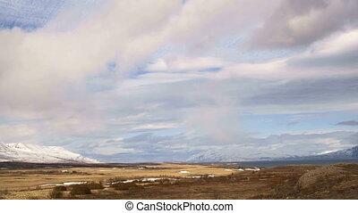 Timelapse of landscape in Iceland