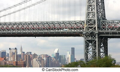 timelapse of manhattan bridge, new york