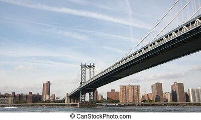 timelapse of manhattan bridge, new york